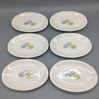 x6 Rae Dunn Appetizer Dessert Oval Plate Set Speckled Easter Egg Blue Pink Green