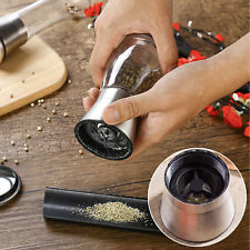 Stainless Steel Brushed Mill Salt Pepper Manual Bottle Grinder Glass Bottle zx