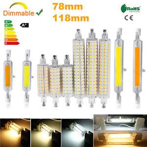 R7s LED COB Light Bulb Dimmable 78mm 118mm 6W 12W T3 J Type Glass Tube Lamp 110V