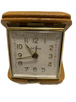 VTG Seth Thomas Travel Alarm Clock Made In Germany Tested and Working!