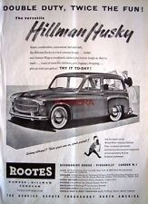Hillman HUSKY 1955 Station-Wagon Estate Motor Car ADVERT: Original Auto Print AD