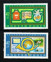 Hungary 1972 MNH Sc B300-B301 Satellite.Horn.Telephone.Earth.Stamps on stamps **
