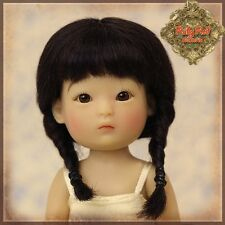RUBY RED GALLERIA-HD0013A-YU PING BLACK MOHAIR WIG WITH BRAIDS-NRFB-PUKI &HONEEB