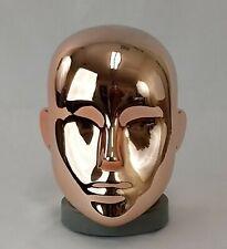 Less Than Perfect C Chrome Rose Gold Female Mannequin Head Part Pierced Ears