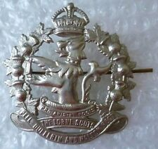 Badge- WW2 Canadian Army The Lorne Scots Cap Badge (WM, Genuine)