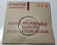 Verre de montre suisse bombé plexi diamètre 226 Watch crystal vintage *NOS*