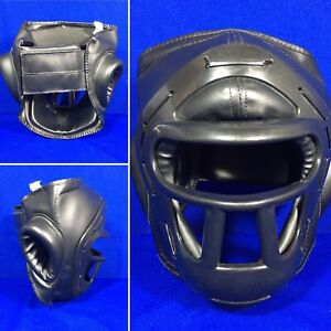 Martial Arts Training Sparring Mask Headgear Guard karate taekwondo ATA Youth M