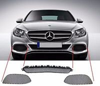 NEW GENUINE MERCEDES BENZ MB C W205 AVANTGARDE FRONT BUMPER LOWER GRILL SET