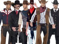 Mens Adult Western Cowboy Fancy Dress Costume Wild West Chaps S-XL New