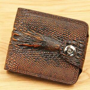 Men's Genuine Leather Wallet Card holder With Crocodile Skin Best Quality Wallet