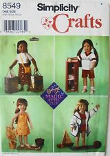 "Simplicity 8549 Magic Attic Club 18"" Doll Clothes Sewing Pattern"