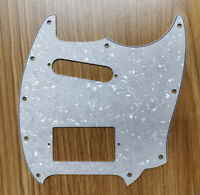 For US Fender Mustang Guitar Pickguard Whit SH PAF Humbucker, White Pearl