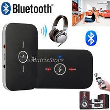 2in1 Bluetooth Wireless Musik Audio Empfänger Sender Transmitter 3.5mm für PC TV