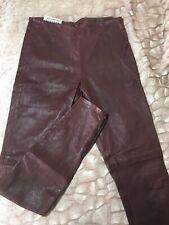 Maison Martin Margiela 100% Lamb Leather Burgundy Leggings Pants Size 1