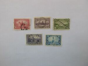 Canada stamps # 223-7 Very fine used King George V Pictorial Issue