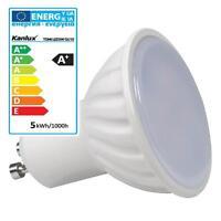 LED GU10 Einbaustrahler kaltweis - warmweiss 5W LED SMD 120° GU10 Einbauleuchte