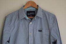 Superdry mens, L.S, striped shirt...blue & white...size L...excellent condition