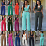 Hot Women Ladies Clubwear V Neck Playsuit Bodycon Party Jumpsuit Romper Trousers
