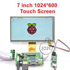 "7"" inch LCD 1024*600 for Raspberry Pi HDMI+VGA+2AV Driver Board+Touch Screen"