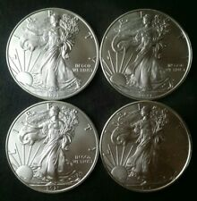 Lot of Four 2021 $1 American Silver Eagle Dollars