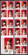 2002 Christmas Snowman Sc 3687b mint booklet plate no. S2222 CV $25