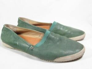 Frye Melanie Slip On Flat Women size 8.5 Green Leather