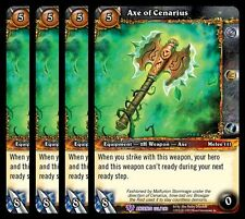 4x Axe of Cenarius War of the Ancients Epic 222 World Warcraft WoW TCG Card Game