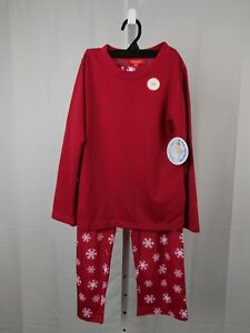 Family PJs Snowflake Print Kids Christmas Pajama Set Size 8 Red #7750