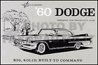 1960 Dodge Matador and Polara Owners Manual Operating and Maintenance Guide Book