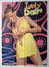 LADY DESIRE - SEXY WOMAN / M. TAYLOR - X RATED - ORIGINAL ITALIAN MOVIE POSTER