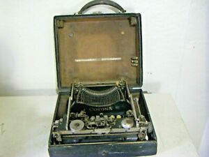 Antique Pat. 1917 Corona Portable Typewriter with Case