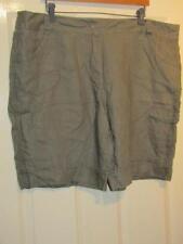 George Linen Plus Size Shorts for Women