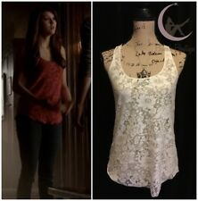 ASO Elena Gilbert American Rag Lace Tank Sz Small The Vampire Diaries ALT