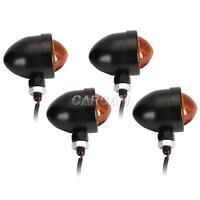4x Black Turn Signals Lights For Yamaha Virago XV 250 500 535 700 750 920 1100