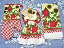 KITCHEN ANGEL MIX IT WITH LOVE GIFT SET WITH KITCHEN TOWEL OVEN MITT