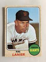 1968 Topps # 436 Hal Lanier  San Francisco Giants  EX/MT+ Original Baseball Card