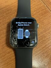 Apple Watch Series 4 44mm GPS Cellular Space Gray Cracked Broken Screen Works !!