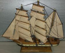 "7DD51 MODEL SHIP: GORCH FOCK, 19-1/2"" OVERALL LENGTH, DUSTY FROM DISPLAY, GC"