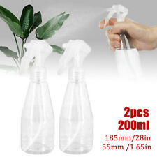 2pcs 200ml Plastic Clear Empty Water Spray Bottles Hand Trigger Mist Sprayer