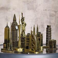 Retro Vintage style metal estatuilla de torre de referencia modelo famosa estatua de Torre