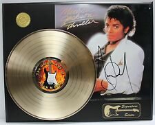 MICHAEL JACKSON GOLD LP  LTD EDITION REPRODUCTION SIGNATURE RECORD DISPLAY