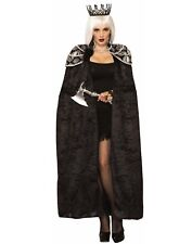 Dark Royal Womens Adult Black Vampire Witch Costume Queen Cape