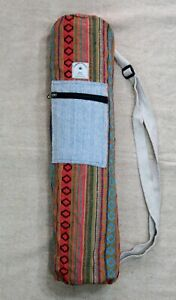 Eco Friendly Yoga Mat Cover Hemp Yoga Mat Bag Boho Style Yoga Case