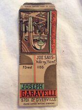 1950s St. Louis MO Joseph Garavelli Restaurant Matchcover Vintage