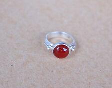 Silber Ring mit  Karneol  Gr 54 (17,2 mm Ø) ( SR-58)