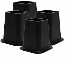 4pcs Heavy Duty Bed Risers Furniture Lifts Lifters Great for Under Bed Storage
