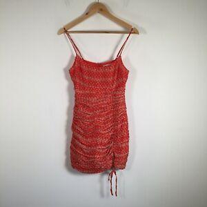 The East Order womens bodycon mini dress size 8 red geometric sleeveless