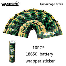 Vastfire 18650 Battery Wrap PVC Heat Shrink Tubing Pre-cut Precut Cover 10/50pc