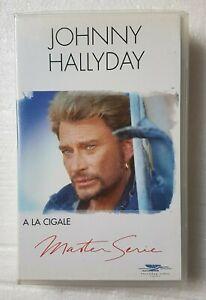 """JOHNNY HALLYDAY ( VHS NEUVE ) ♦ """"A LA CIGALE"""" - MASTER SERIE  ♦"""
