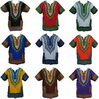 NEW Dashiki African Festival Poncho Tribal Hippie Hippy Plus Size T-Shirt Top